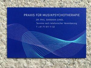 Schild Kunsttherapie